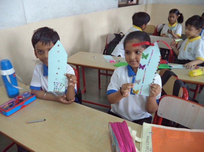 CLASS-I BOOK MARK MAKING