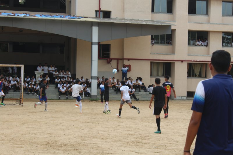Football Match with Ex Students